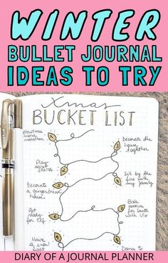 Plan out a winter themed bullet journal spread with our ultimate list of winter-themed ideas and inspiration! #winter #bulletjournaltheme #bulletjournal #bujo #bulletjournaltheme