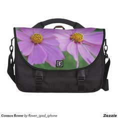 Cosmos flower laptop bag