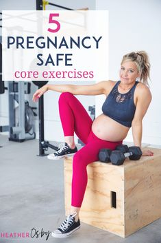 When it comes to core SPECIFIC exercises, there are some great exercises that are safe in pregnancy and will help improve your core stability. I've put together a few that would be good additions to your exercise routine both in pregnancy and strengthening postpartum. #pregnancyexercises #coreexercises #pregnancycoreexercises #pregnancy Prenatal Workout, Pregnancy Workout, Pregnancy Fitness, Fit Board Workouts, Gym Workouts, At Home Workouts, Third Pregnancy, Pregnancy Tips, Strenght Training