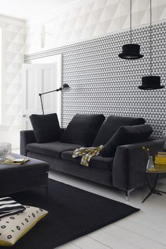 Modern Geometrics - Living Room Ideas, Furniture & Designs - Decorating Ideas (houseandgarden.co.uk)