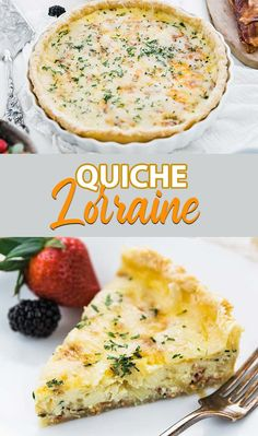 Quiche Lorraine Recipe – this is a delicious savory egg and bacon tart surrounded by a homemade pie crust and baked to perfection for the perfect brunch recipe. #quiche #lorraine #breakfast #brunch Delicious Breakfast Recipes, Easy Delicious Recipes, Brunch Recipes, Brunch Ideas, Breakfast Meals, Quiche Lorraine Recipe, Homemade Pie, Egg Recipes, Family Meals