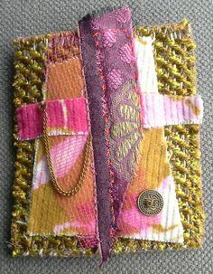 Broche/Composition textile. Style baroque. par VeronikB sur Etsy