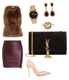 """Untitled #3"" by shayeloveshaye ❤ liked on Polyvore featuring Helmut Lang, Christian Louboutin, Yves Saint Laurent, Rolex, Cathy Waterman and Effy Jewelry"
