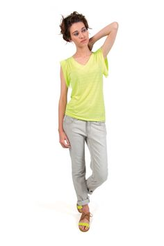 PEARL-098 SKUNKFUNK women's t-shirt fabric content: 100% polyester color: yellow price: $59.00