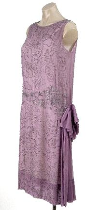 French flapper dress, 1920's.  A beautiful color that your rarely see in vintage dresses from that era.