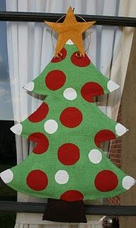 I've got a wooden one being cut out, to paint for Christmas, this Christmas tree decor, is in burlap