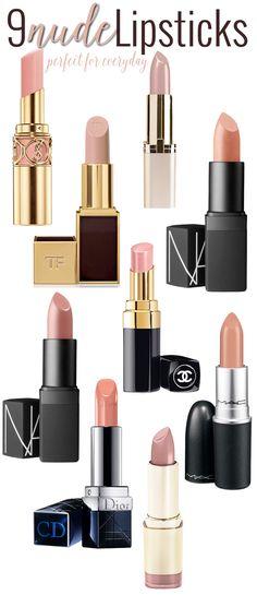 9 Perfect Nude Lipsticks.