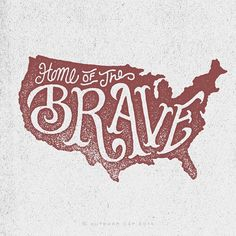 New americana typography. Chic Type, Typographie Inspiration, Home Of The Brave, Hand Type, Typography Letters, Lettering Design, Artsy Fartsy, In This World, How To Draw Hands