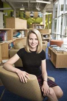 "You probably have been hearing about my favorite chic geek, the ""Googirl"" herself: Marissa Mayer, too. Isn't she awesome? :)"