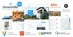 DreamVilla - Real Estate WordPress Theme Multi Property Real Estate Wordpress Theme. It comes with two Unique Demo Variations. Each demo includes 3 Homepage Variations. We have added Homepage Variation with Google Map as well. There are 5 different variations for Showcasing your Properties.