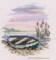 Rowing Boat - Minuets - Cross Stitch Kit from Derwentwater Designs