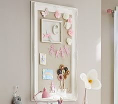 Baroque Utility Pinboard | Pottery Barn Kids...love the frame, need this for the kitchen