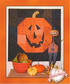 "Happy Jack, 30 X 30"", wall quilt/tablemat at Shabby Fabrics"
