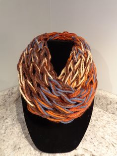 Arm Knitted Infinity Cowl/Scarf by IdleHandsCrochetKnit on Etsy