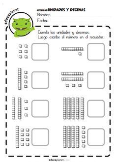 Unidades decenas centenas ejercicios matemáticas GRATIS Educaplanet EDUCAPLANET APPS #decenas #unidades #ejercicios #grati #fichas #worksheet #actividades Math 2, Math Literacy, Kindergarten Worksheets, Preschool Activities, Activity Sheets For Kids, English Language Learning, Montessori Materials, Math For Kids, Math Lessons