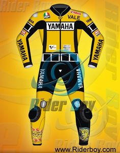 Valentino Rossi Yamaha 2005 Motorcycle Leathers Suits