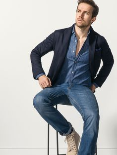 Andrew Cooper for Massimo Dutti - PRINTED WOOL JACKET