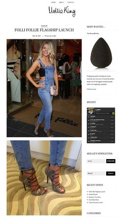 """Malone Souliers' roccia lizard, grey nappa 'Savannah' lace-up booties on Mollie King in MollieKing.com.   FOLLI FOLLIE FLAGSHIP LAUNCH  """"Credits: Bag and Jewellery – Folli Follie Dungarees – Rebecca Minkoff Heels – Malone Souliers"""" - Mollie King   #MaloneSouliers #MollieKing #FolliFollie #Savannah #laceupbooties #AW1415"""