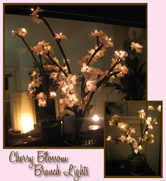 Cherry Blossom LED lights (the site has instructions on how to make your own!