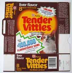 1979 Ralston Purina Tender Vittles Cat Food Box Front | Flickr - Photo Sharing!