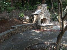 Fireplace Patio Retaining Walls #fireplace_patio_retaining_walls
