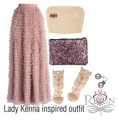 """Lady Kenna inspired outfit/Reign"" by tvdsarahmichele ❤ liked on Polyvore featuring Chicwish, Rosie Assoulin, Giuseppe Zanotti, Don't AsK and Henri Bendel"