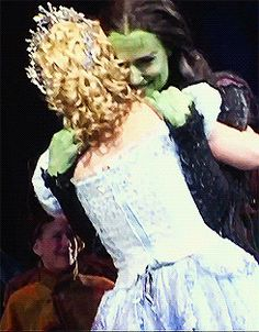 Please take a minute of your time to watch Idina Menzel's smile after the opening night performance of Wicked (Oct. 30rd, 2003). :) || I'm crying. This made me start crying.
