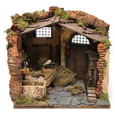 Escena campesino en el henil para belén de 10 cm de altura media 4 Reggio, Diy Nativity, Medieval Houses, Christmas Pictures, Firewood, Portal, Art Projects, Christmas Decorations, Miniatures