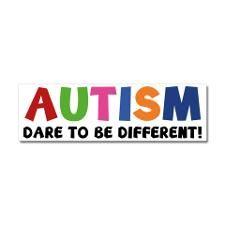 autismDare1A Car Magnet 10 x 3