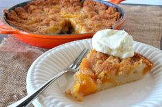 This easy peach cobbler is a quick and delicious answer to dessert. Especially when you've got copious amounts of peaches!