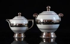 Art Deco Limoges Porcelain : TLB milk & sugar