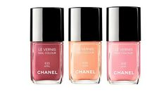 Chanel Spring/ Summer 2012 nail polishes are named after the months of Spring April, May and June