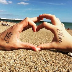 Pin for Later: 30+ Matching Tattoos For Couples Who Are in It to Win It Mr. and Mrs.