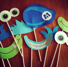 Monsters Inc photo booth props