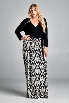 Plus size maxi dresses boutique