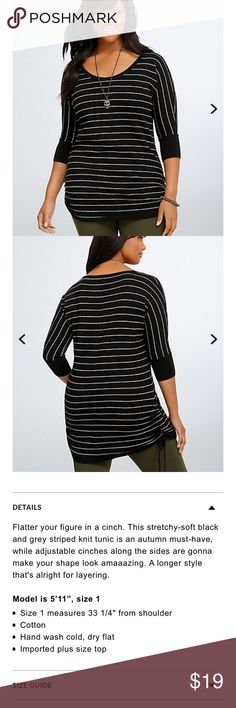 Torrid 2 side cinch tunic top Torrid 2 side cinch tunic top  This top is worn with with life left  Peeling under arms see pics torrid Tops