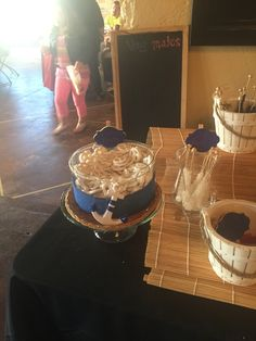 Nautical (Sailor) theme party candy table