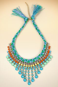 Colorful statement necklace #BostonProper #SS15 #Jewelry #Bibnecklace