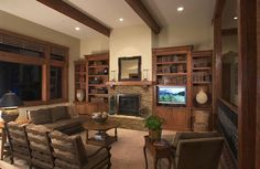 Built Ins Around Fireplace | Favorite Places & Spaces / Love the built-ins around the fireplace