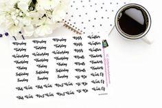 Planner Stickers Words for your Bullet Journal Erin Condren Happy Planner Inkwell Press Plum Paper  BUJO  TN  Plum Planner BujoWords
