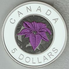 """Item specifics Seller Notes: """"Guaranteed authentic, with serial numbered Certificate of Authenticity issued by the Royal Canadian Mint. New, in original Mint packaging. Real photos of real, in-stock coins — not just Mint artists conception drawings. Christmas Vases, Custom Coins, Canadian Coins, Poinsettia Flower, Mint, Butterfly, Canada, Flower Stamp, Pure Products"""