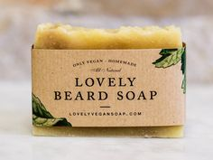 Lovely Beard Soap - mens soap,beard wash,vegan soap,homemade soap,gift for him,gift for men, beard soap,all natural soap,handmade soap,beard care,Christmas gift for him  My beard soap is handcrafted from high quality natural ingredients and is specifically designed to wash your beard.  Soap gently cleanses the hair and does not dry the skin. It moisturizes and softens the rough stubble. And a part of aromatherapy oils create a unique fragrance and nourish the hair follicle. Oil olives…