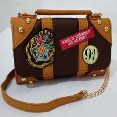 New Harry Potter Hogwarts Letter Themed PU School Badge Wallet Bag Package