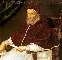 """Gregory XIII, 16th-century bishop of Rome: After tens of thousands of Huguenots were slaughtered in the streets (see """"St. Bartholomew's Day Massacre"""") in the streets, he had celebratory coins struck to honor the occasion."""