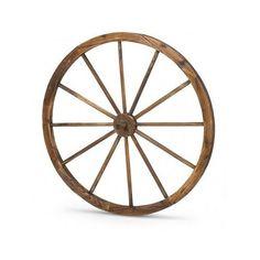 Wooden Wagon Wheel 36 In Rustic Outdoor Decor Home Patio Yard Garden Decoration