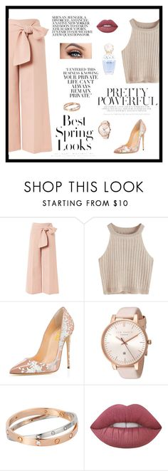 """""""Untitled #1031"""" by alwateenalr on Polyvore featuring Topshop, Ted Baker, Lime Crime, H&M and Marc Jacobs"""