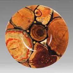 """Philip Moulthrop, Artist, Arboreal Platter, 2.25""""x31"""""""