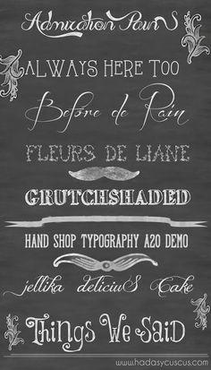 Mi lista de 8 fuentes o tipografías vintage para descargar.