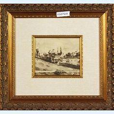 Lot 439-Paul Cezanne Heliogravure in black Maisons Aux Environs De Pontoise 1923