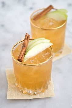 This moonshine cocktail tastes (and smells!) like apple pie in liquid form.  Get the recipe at The Little Epicurean.    - CountryLiving.com